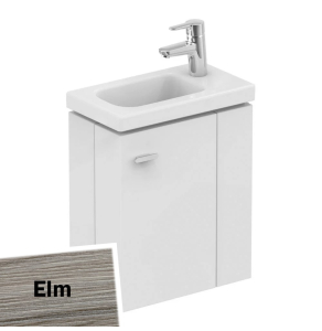 Ideal Standard Concept Space Wall Hung Vanity Unit with RH Basin 450mm Wide - Elm IS10547