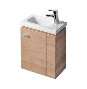 Ideal Standard Concept Space Wall Hung Vanity Unit with RH Basin 450mm Wide - American Oak IS10392