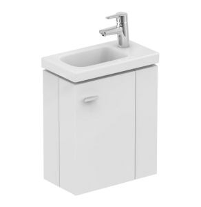 Ideal Standard Concept Space Wall Hung Vanity Unit with RH Basin 450mm Wide - Gloss White IS10393