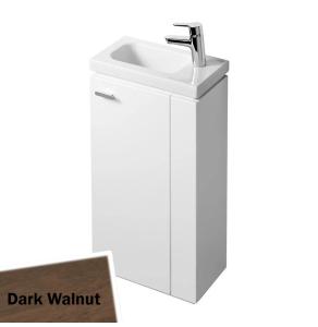 Ideal Standard Concept Space Floor Standing Vanity Unit with RH Basin 450mm Wide - Dark Walnut IS10409