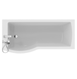 Ideal Standard Tempo Arc Shower Bath Left Handed 1700mm x 700mm/800mm 0 Tap Hole - E256801 IS10309
