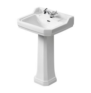 Ideal Standard Waverley Classic Basin with Full Pedestal 560mm Wide - 1 Tap Hole IS10268