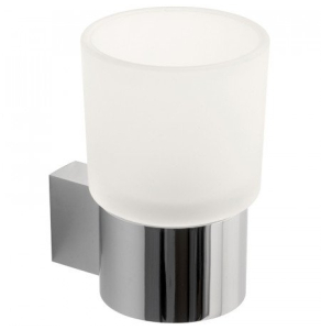 Vado Infinity Frosted Glass Tumbler And Holder Wall Mounted - Inf-183-C/P VADO1124