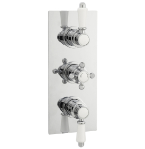 Nuie Victorian Chrome Traditional Triple Thermostatic Shower Valve - ITY315 ITY315