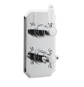 Nuie Victorian Chrome Traditional Twin Thermostatic Shower Valve - ITY316 ITY316