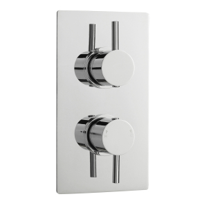 Nuie Pioneer Chrome Contemporary Twin Thermostatic Shower Valve With Diverter - JTY392 JTY392