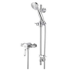 Bristan Colonial2 Thermostatic Surface Mounted Shower Valve with Adjustable Riser Chrome KN2 SHXAR C