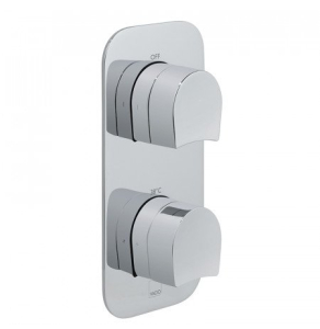 Vado Vertical Concealed 2 Outlet 2 Handle Thermostatic Valve With All-Flow Function - Tab-148/2-Kov-C/P VADO1587