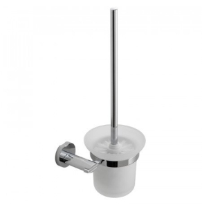 Vado Toilet Brush And Frosted Glass Holder - Kov-188-C/P VADO1058