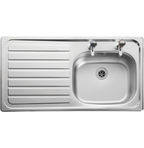 Leisure Lexin LE95L 1.0 Bowl 2TH Stainless Steel Inset Kitchen Sink Left Hand Drainer LE95l/