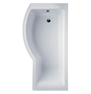 Ideal Standard Concept Shower Bath 1700mm x 700mm/900mm Left Handed 0 Tap Hole - White - E731601 - E731601 IS10344