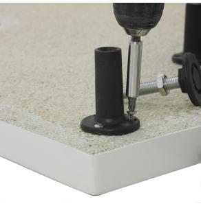 Nuie Shower Trays White Contemporary Leg Set & Plinth Kit (1200x900 Curved Plinth) - LEGD LEGD