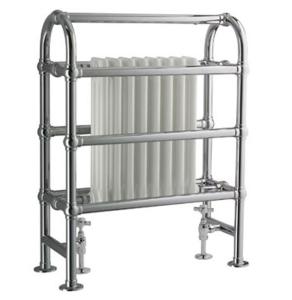Vogue Baroque Designer Radiator Heated Towel Rail 875mm H x 675mm W Dual Fuel LG014 BR087067CP-HE