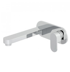 Vado Life 2 Hole Basin Mixer Single Lever With 200Mm Spout Wall Mounted With Oval Back Plate - Lif-109S/A-200-C/P VADO1702