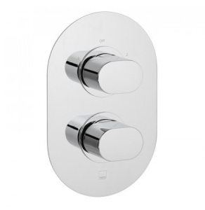 Vado Life 2 Outlet 2 Handle Thermostatic Shower Valve Wall Mounted - Lif-148D/2-C/P VADO1618