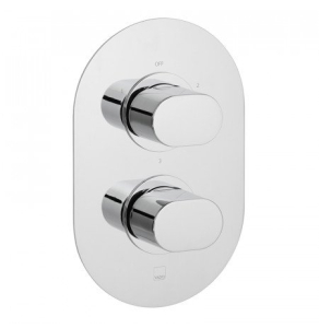Vado Life 3 Outlet 2 Handle Thermostatic Shower Valve Wall Mounted - Lif-148D/3-C/P VADO1617