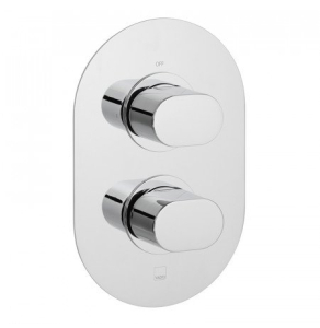 Vado Life 1 Outlet 2 Handle Concealed Thermostatic Shower Valve Wall Mounted - Lif-148D-C/P VADO1619