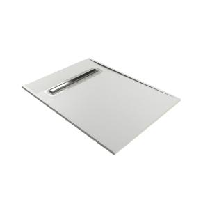 Impey Aqua-Dec Linear 4 Wet Room Former 1000mm x 1000mm With Linear Waste - AD4L1010 IM1028