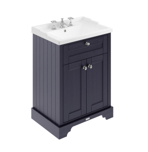 Hudson Reed Old London Twilight Blue 600mm Cabinet & Basin (3TH) - LOF333 LOF333