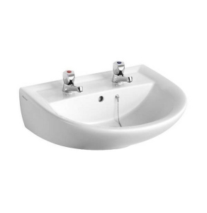 Armitage Shanks Sandringham 21 Wall Hung Basin, 550mm Wide, 2 Tap Hole AS10003