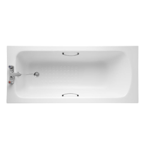 Armitage Shanks Sandringham 21 Bath with Handgrips & Tread 1700mm x 700mm - 2 Tap Hole AS10130