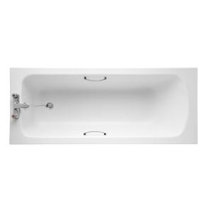 Armitage Shanks Sandringham 21 Bath with Handgrips & Tread 1600mm x 700mm 2 Tap Hole - E028701 AS10131