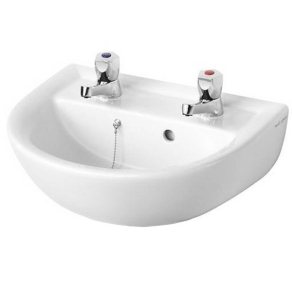 Armitage Shanks Sandringham 21 Wall Hung Basin 450mm Wide 2 Tap Hole AS10012