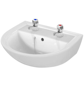 Armitage Shanks Sandringham 21 Wall Hung Basin 500mm Wide 2 Tap Hole AS10002