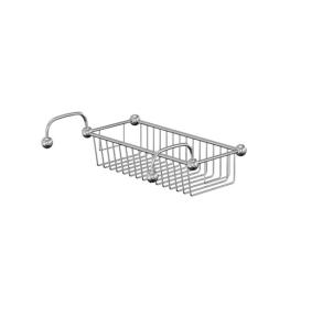 Burlington Traditional Bath Wire Basket, Rim Mounted, Chrome BU10857
