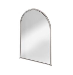 Burlington Traditional Arched Bathroom Mirror, 700mm High x 500mm Wide, Chrome BU10803