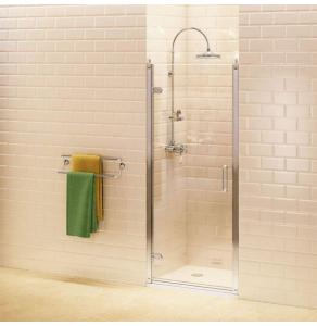 Burlington Traditional Hinged Shower Door, 800mm Wide, 8mm Glass BU10731