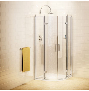 Burlington Traditional Quadrant Shower Enclosure, 900mm x 900mm, 8mm Glass BU10739