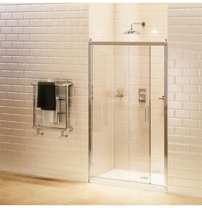 Burlington Traditional Sliding Shower Door, 1100mm Wide, 8mm Glass BU10733