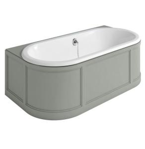Burlington London Back to Wall Surround Acrylic Bath 1800mm x 950mm In Olive - E23O BU10496