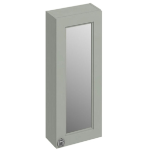 Burlington 30 Fitted 1-Door Mirrored Wall Cabinet Unit, 300mm Wide, Olive BU10433