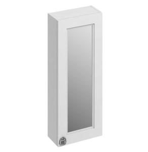 Burlington 30 Fitted 1-Door Mirrored Wall Cabinet Unit, 300mm Wide, Matt White BU10435