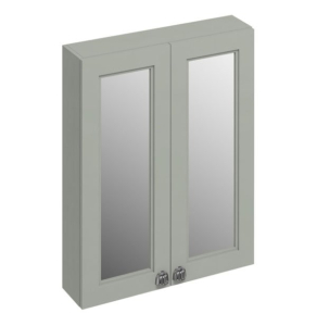Burlington 60 Fitted 2-Door Mirrored Wall Cabinet Unit, 600mm Wide, Olive BU10447