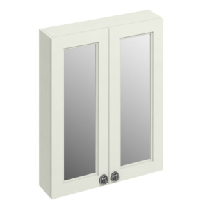 Burlington 60 Fitted 2-Door Mirrored Wall Cabinet Unit, 600mm Wide, Sand BU10449