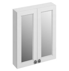 Burlington 60 Fitted 2-Door Mirrored Wall Cabinet Unit, 600mm Wide, Matt White BU10448