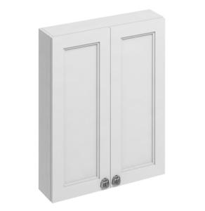 Burlington 60 Fitted 2-Door Wall Cabinet Unit, 600mm Wide, Matt White BU10442