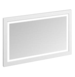 Burlington 120 Fitted Framed LED Bathroom Mirror, 750mm High x 1200mm Wide, Matt White BU10469