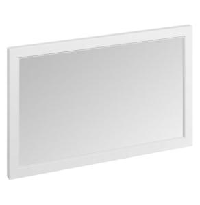 Burlington 120 Fitted Framed Bathroom Mirror, 750mm High x 1200mm Wide, Matt White BU10450