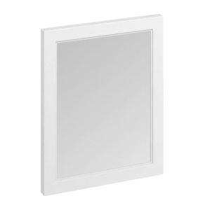 Burlington 60 Fitted Framed Bathroom Mirror, 750mm High x 600mm Wide, Matt White BU10428