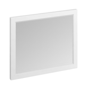 Burlington 90 Fitted Framed Bathroom Mirror, 750mm High x 900mm Wide, Matt White BU10441