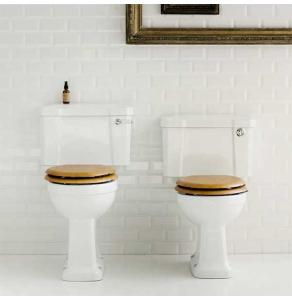 Burlington Regal Close Coupled Toilet Lever Cistern - Excluding Seat BU10011