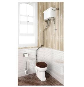 Burlington Regal High Level Toilet Angled White Ceramic Cistern - Excluding Seat BU10038