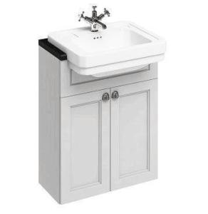 Burlington 60 Fitted Semi-Recessed Vanity Unit and 1TH Basin, 600mm Wide, Matt White BU10459