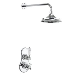 Burlington Severn Dual Concealed Mixer Shower, 6inch Fixed Head BU10662