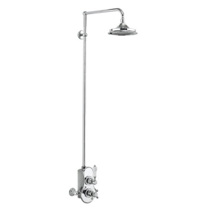 """Burlington Spey Dual Exposed Mixer Shower with 12"""" Fixed Head BU10677"""