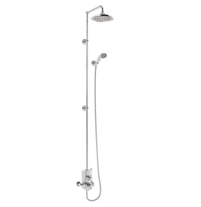 """Burlington Spey Extended Dual Exposed Mixer Shower with 9"""" Fixed Head BU10679"""